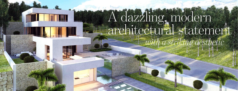 Article cover spread The Address Magazine for a dazzling modern villa in Altea Alicante