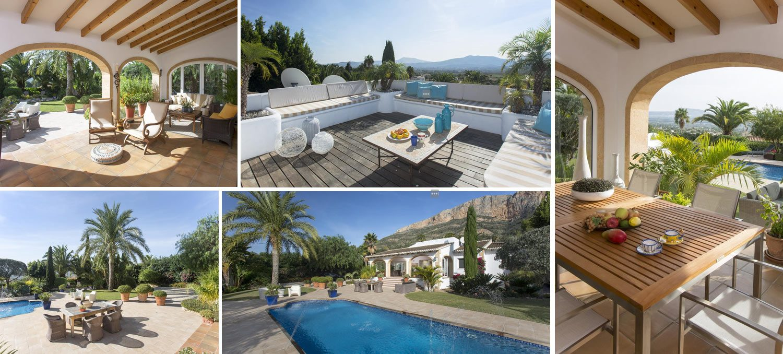Image collage Authentic villa costa blanca spain