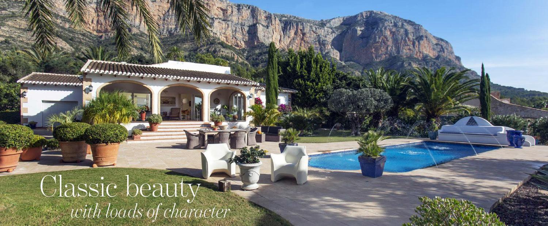 Article spread The Address Magazine about classic villa for sale in Javea Costa Blanca