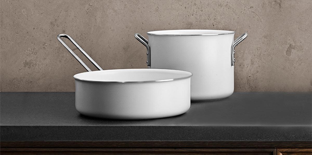 Eva Solo White Line pots and pans