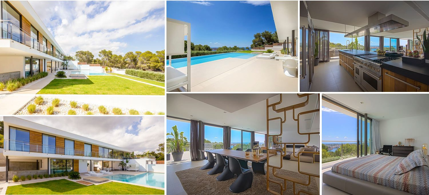 Image collage villa in Vista Alegre Ibiza