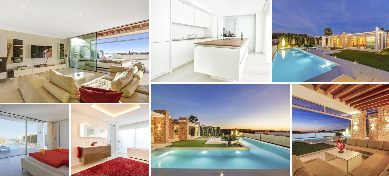Image collage luxury villa in Ibiza