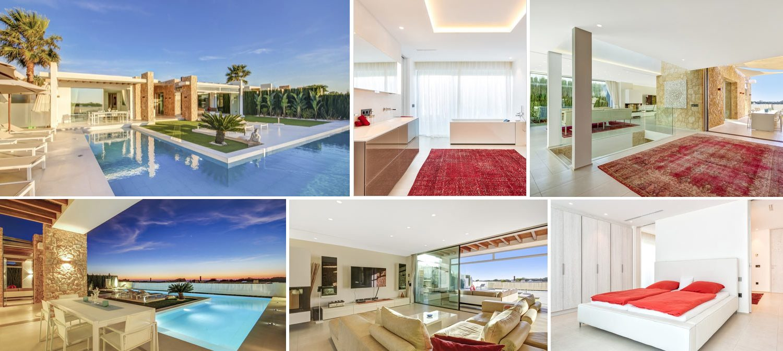 Collage of Cala Conta villa in Ibiza