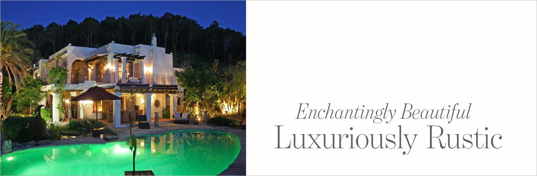 Luxuriously rustic villa in Ibiza