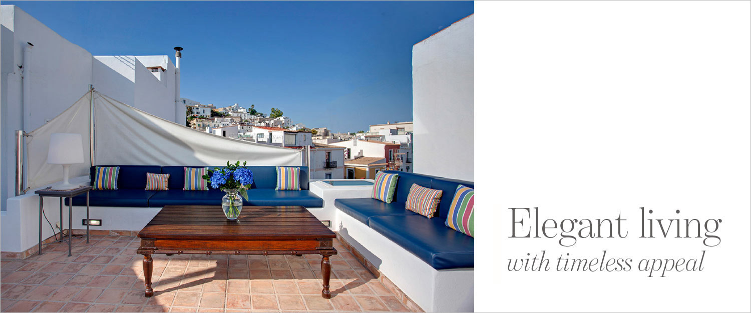 The Address Magazine cover roof terrace in Ibiza town