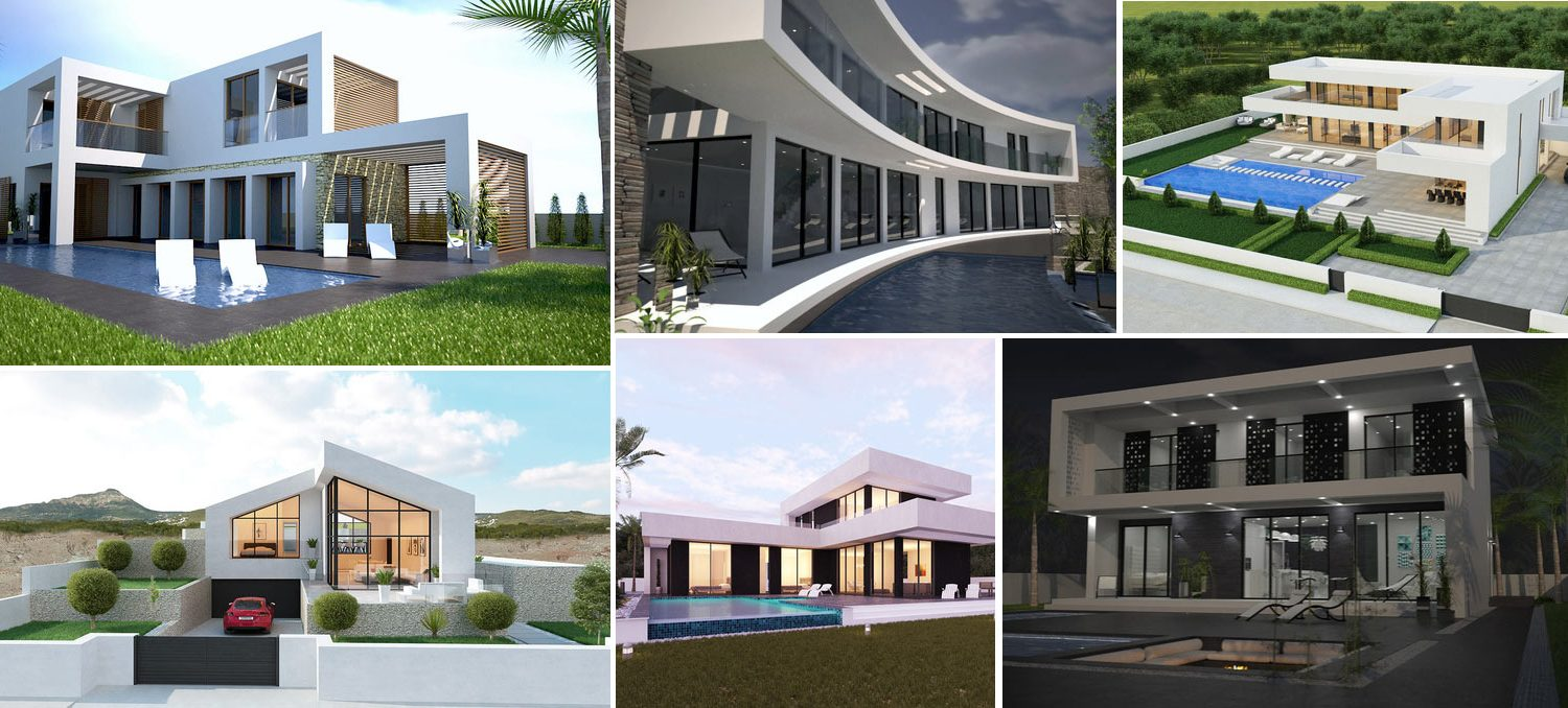 Collage - new villas in Mallorca