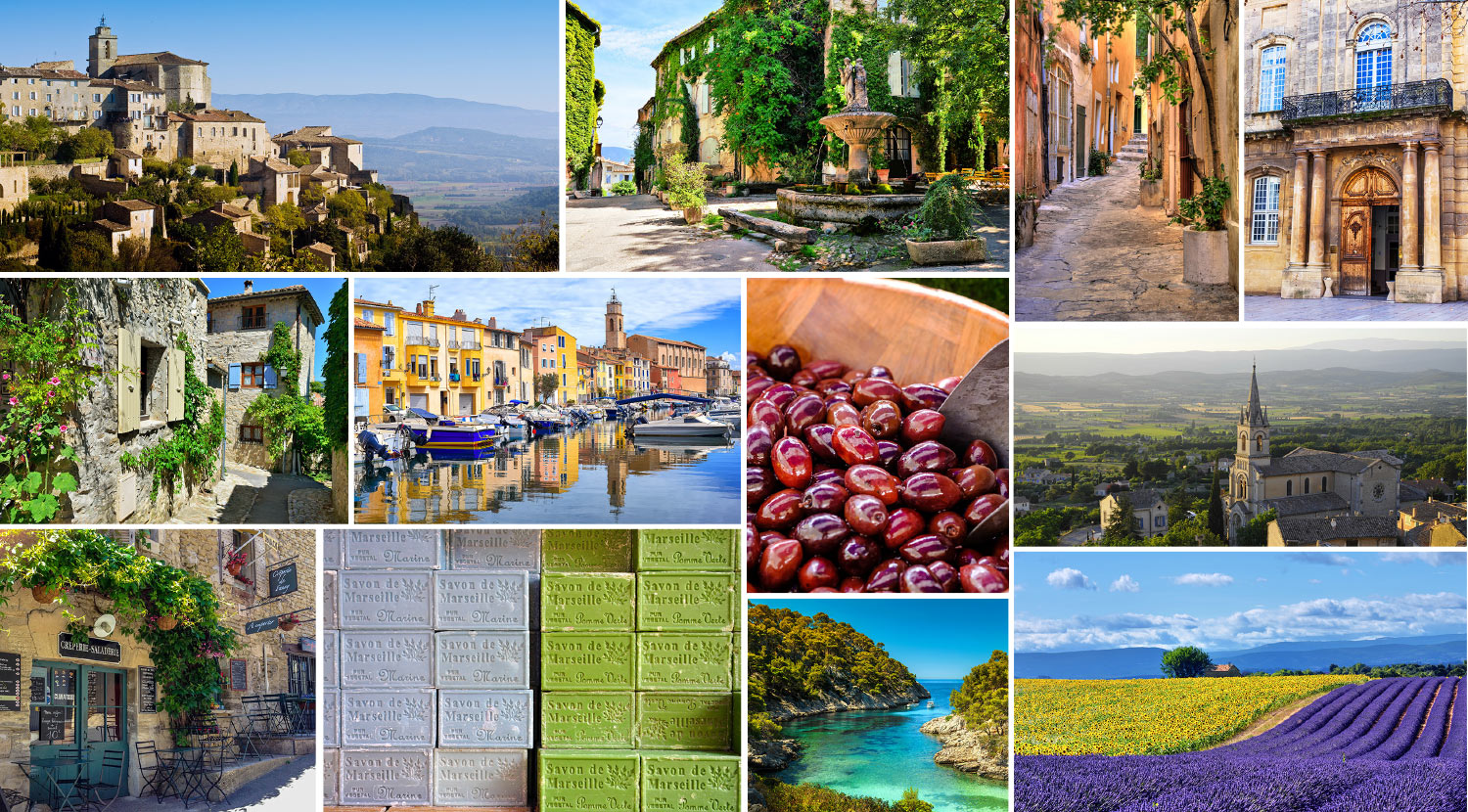 Collage if images from Provence France