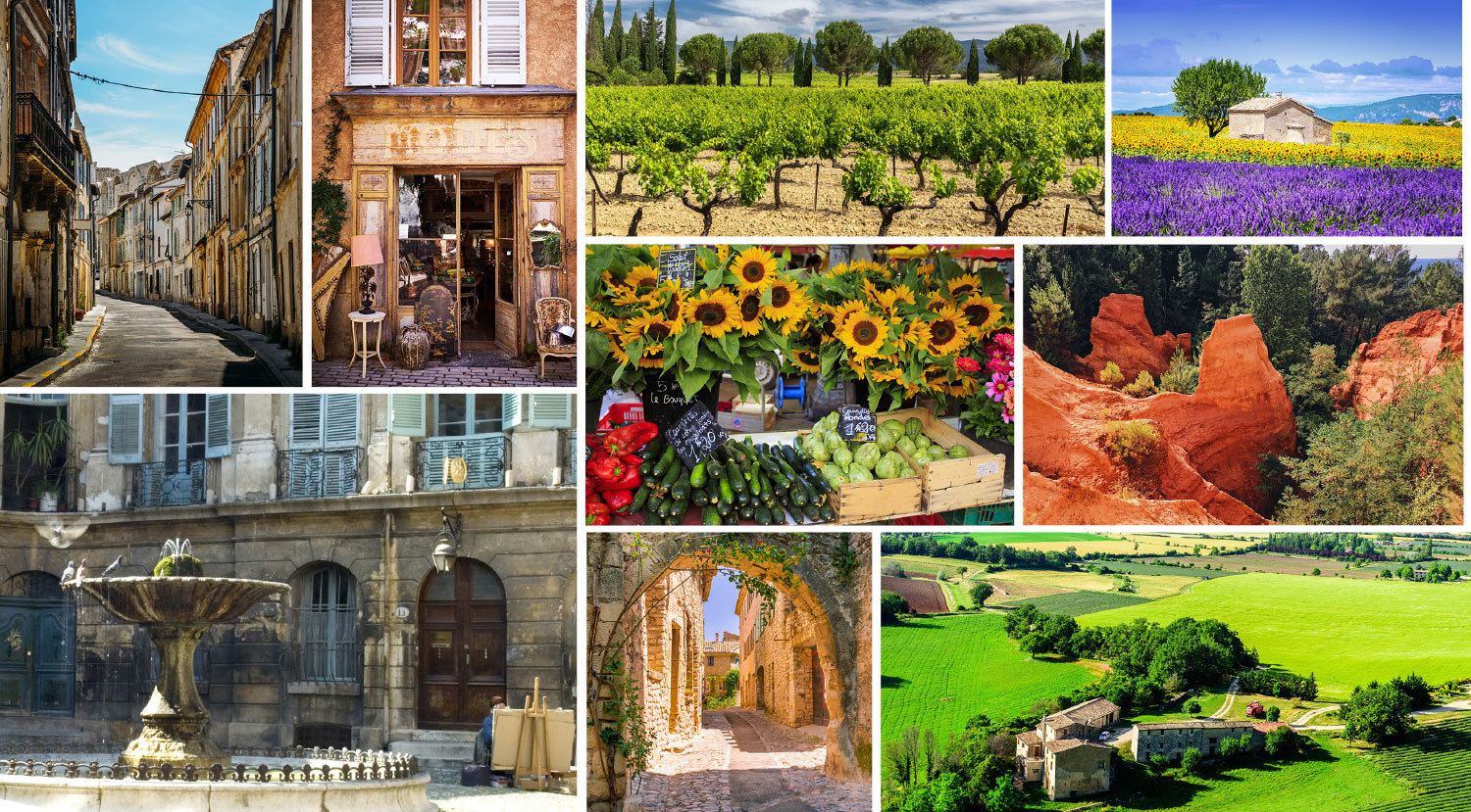 Image composition of Provence France