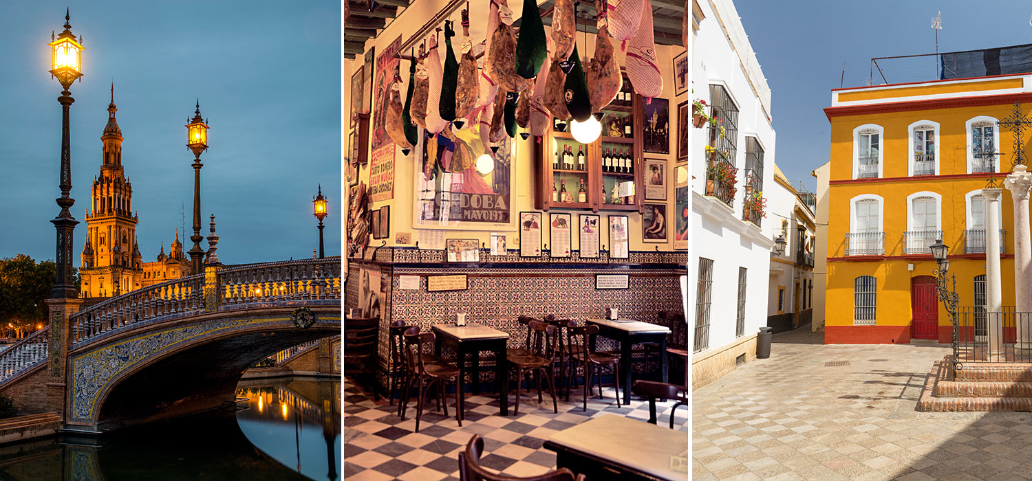 Collage - images from Seville