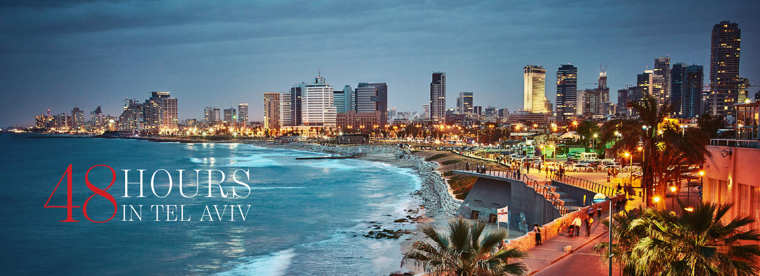 "Article cover image for ""48 Hours in Tel Aviv"" in The Address Magazine"