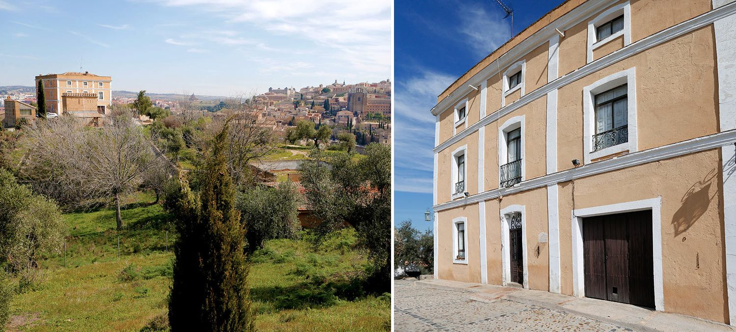 Image composition of two images of property outside Toledo Spain