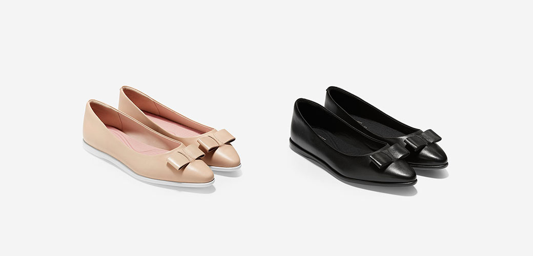 Cole Haan bow skimmer flats